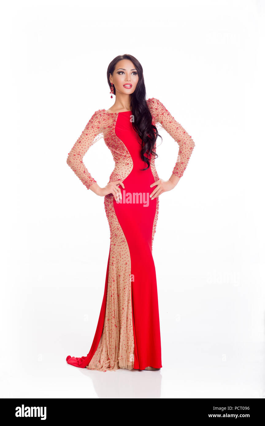 DORAL, FL - JANUARY 23: Aiday Issayeva, Miss Kazakhstan 2014 poses ...