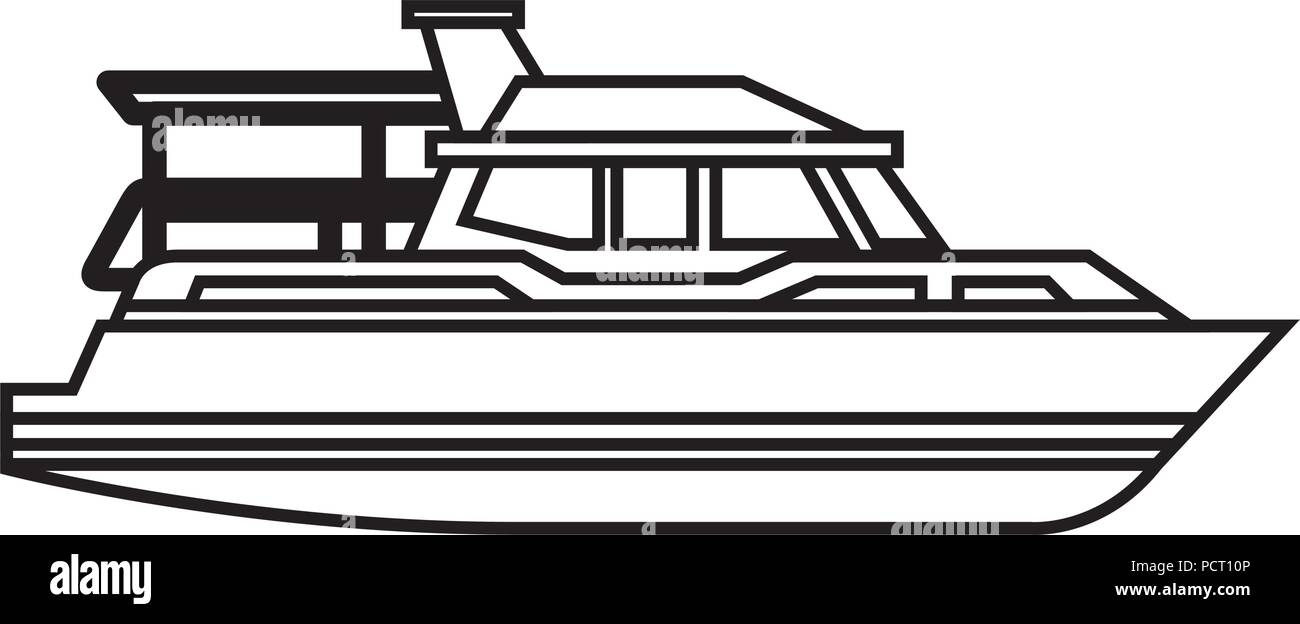 yacht ship isolated icon - Stock Vector