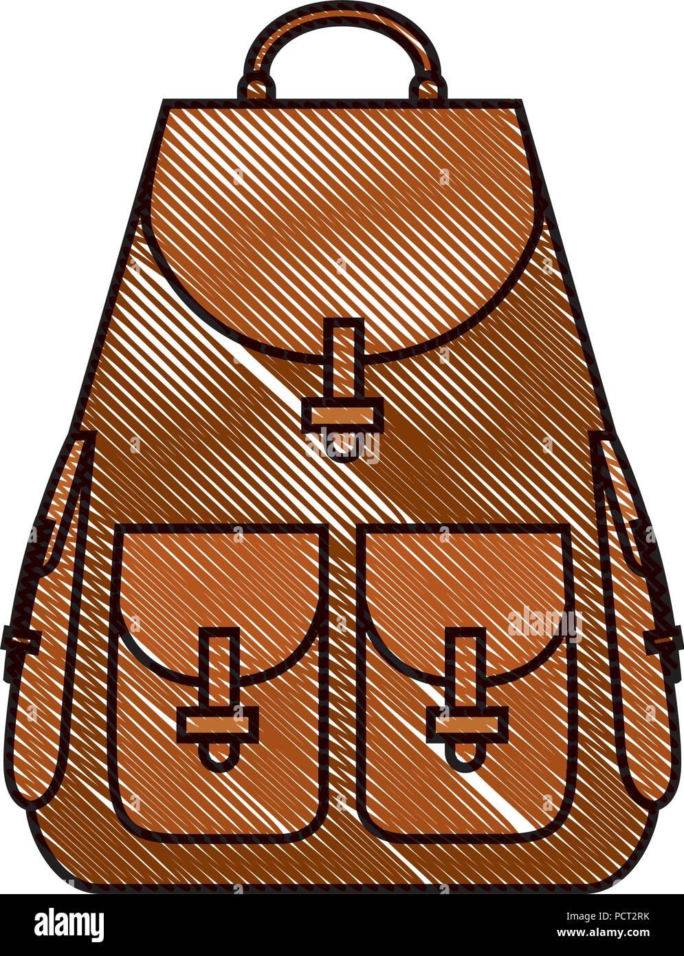 travel bag isolated icon - Stock Image