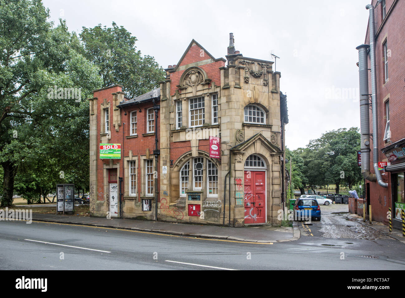 Old Post Office on Woodhouse St. Leeds, awaiting development - Stock Image