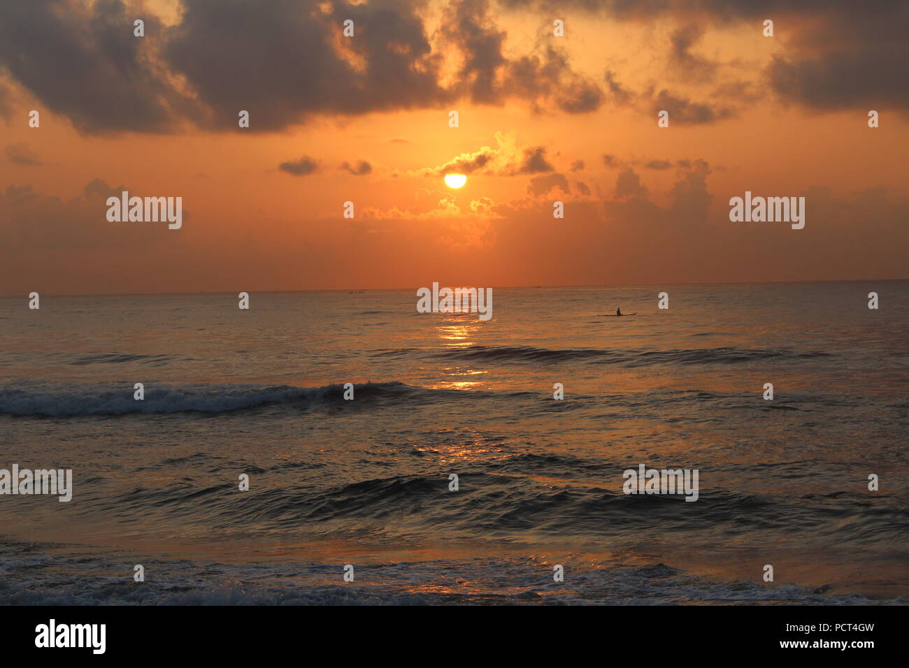 Red Sun Rise - Stock Image