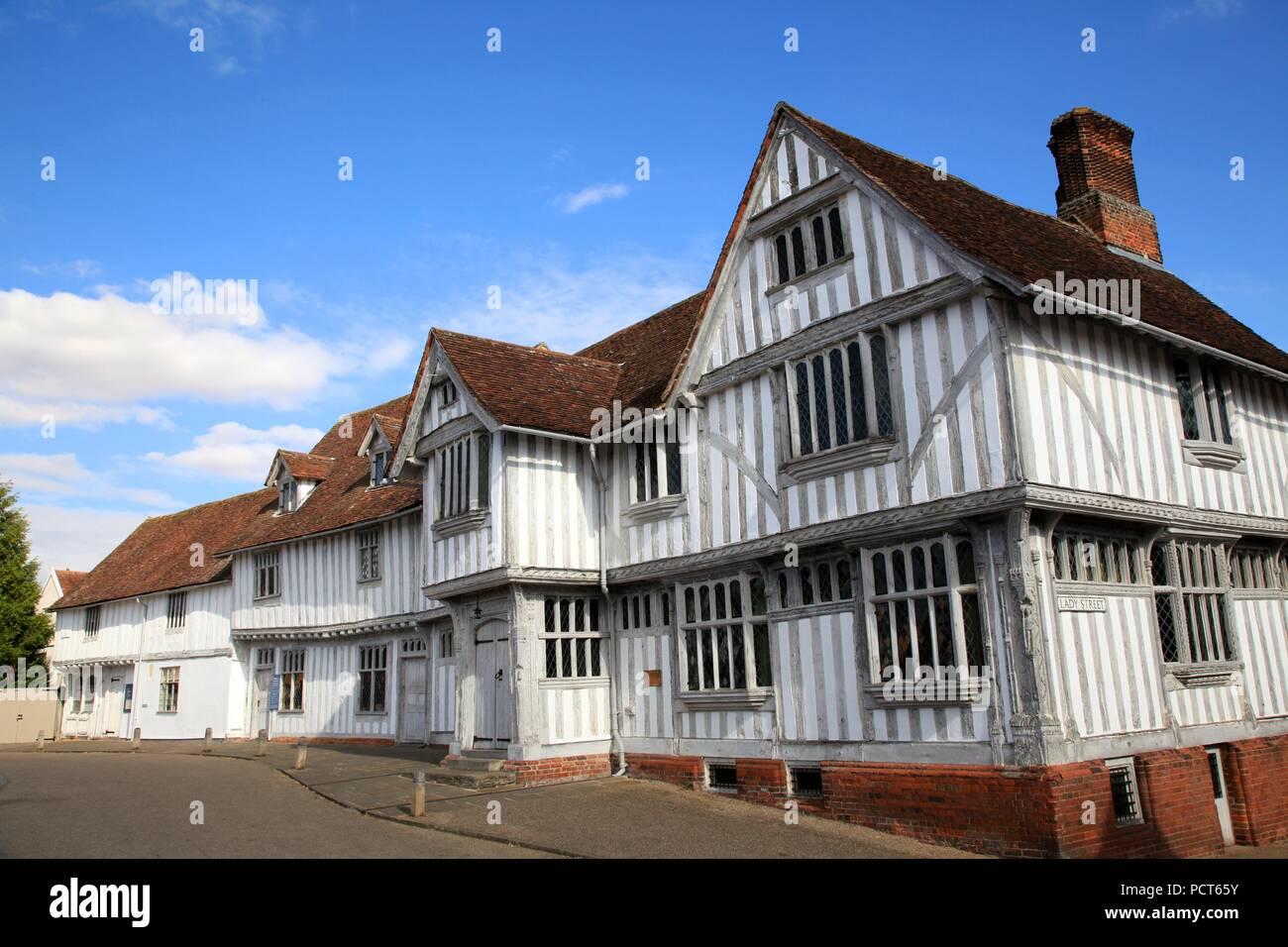 Guildhall of Corpus Christi Lavenham Suffolk UK - Stock Image