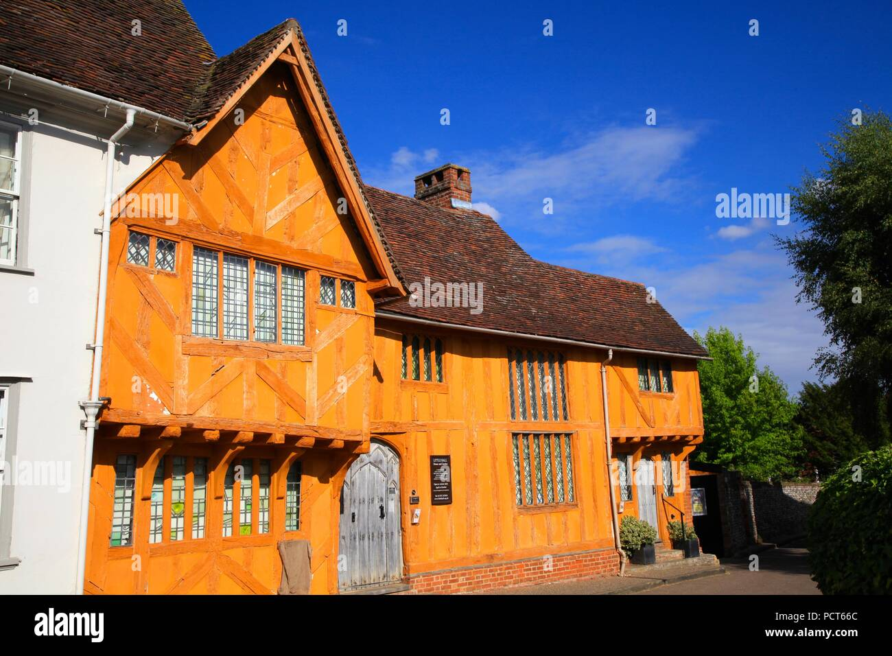 Little Hall House and Garden Market Place Lavenham Suffolk UK 2018 Stock Photo