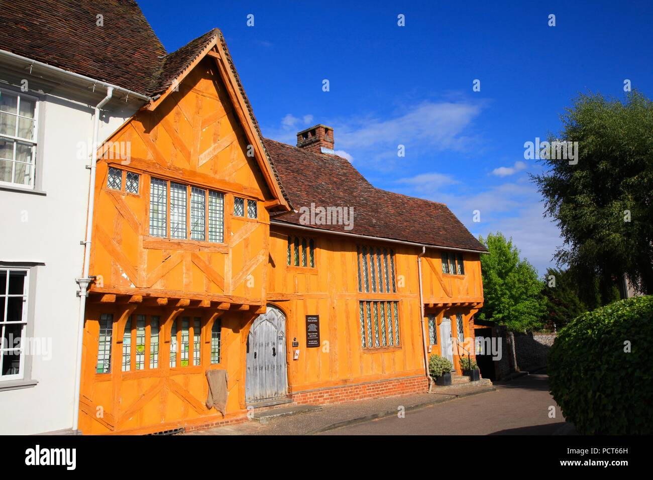 Little Hall House and Garden Market Place Lavenham Suffolk UK 2018 - Stock Image