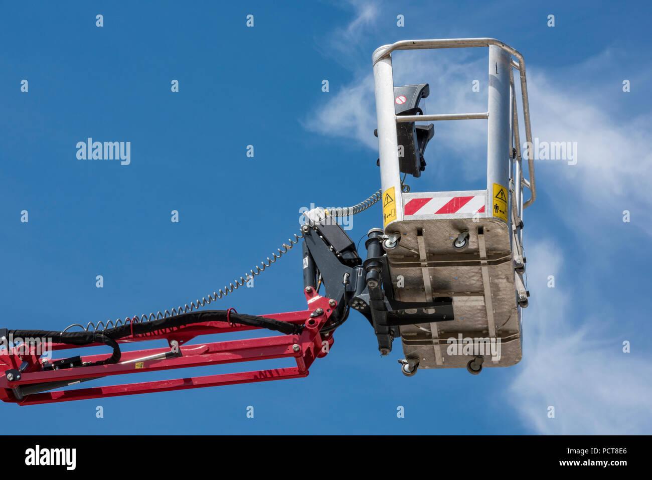 cherry picker or mobile elevated work platform basket or