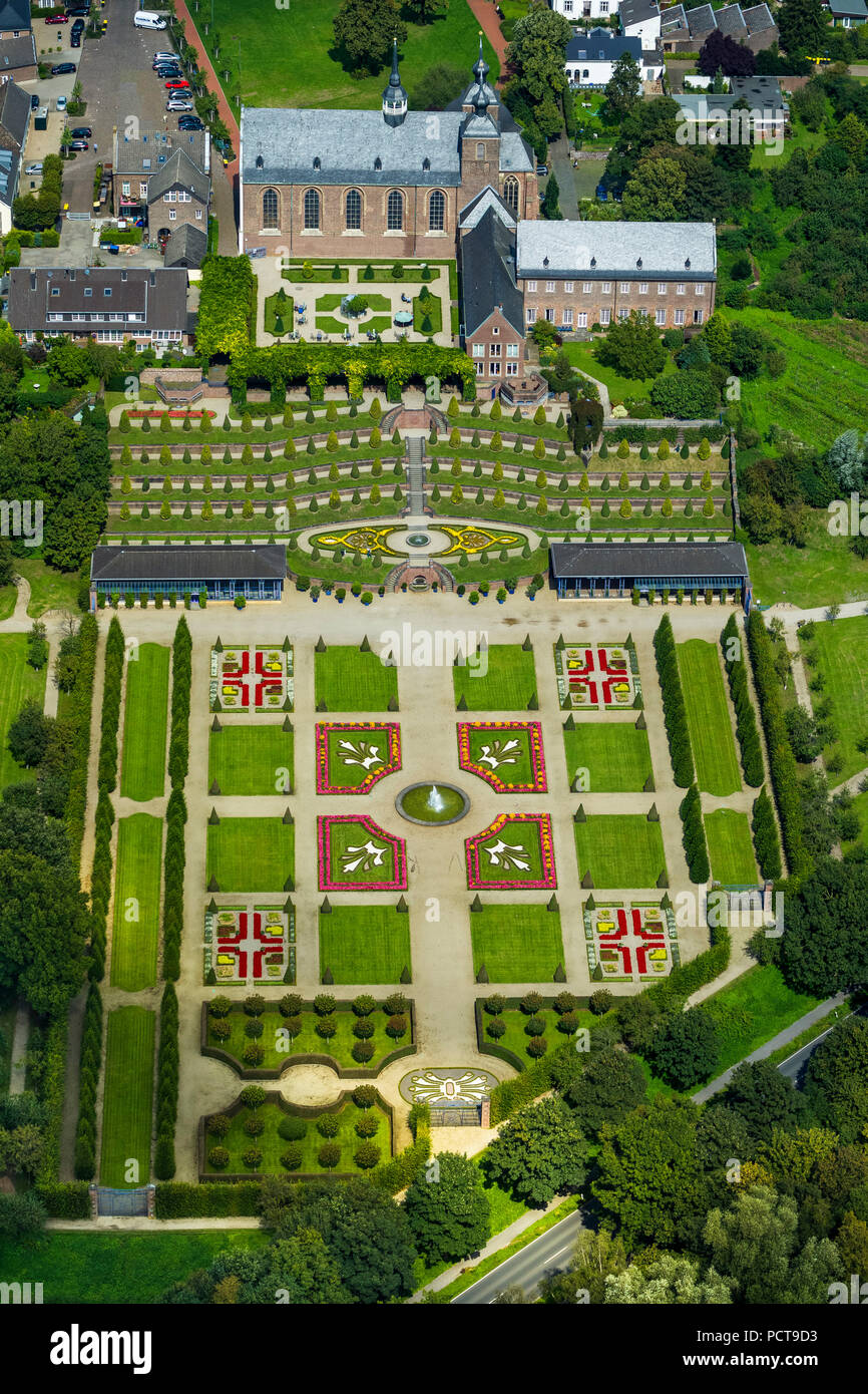 Aerial Photo, Kamp Abbey With Terraced Gardens And French ...