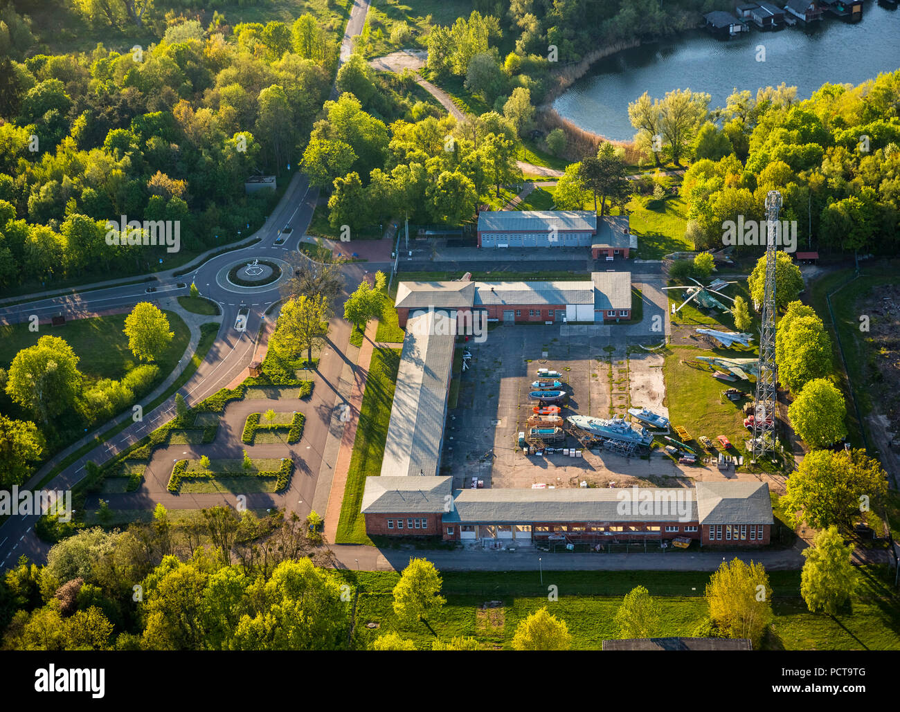 Rechlin Aviation Museum, Rechlin, Mecklenburg Lake Plateau, Mecklenburg-Western Pomerania, Germany - Stock Image