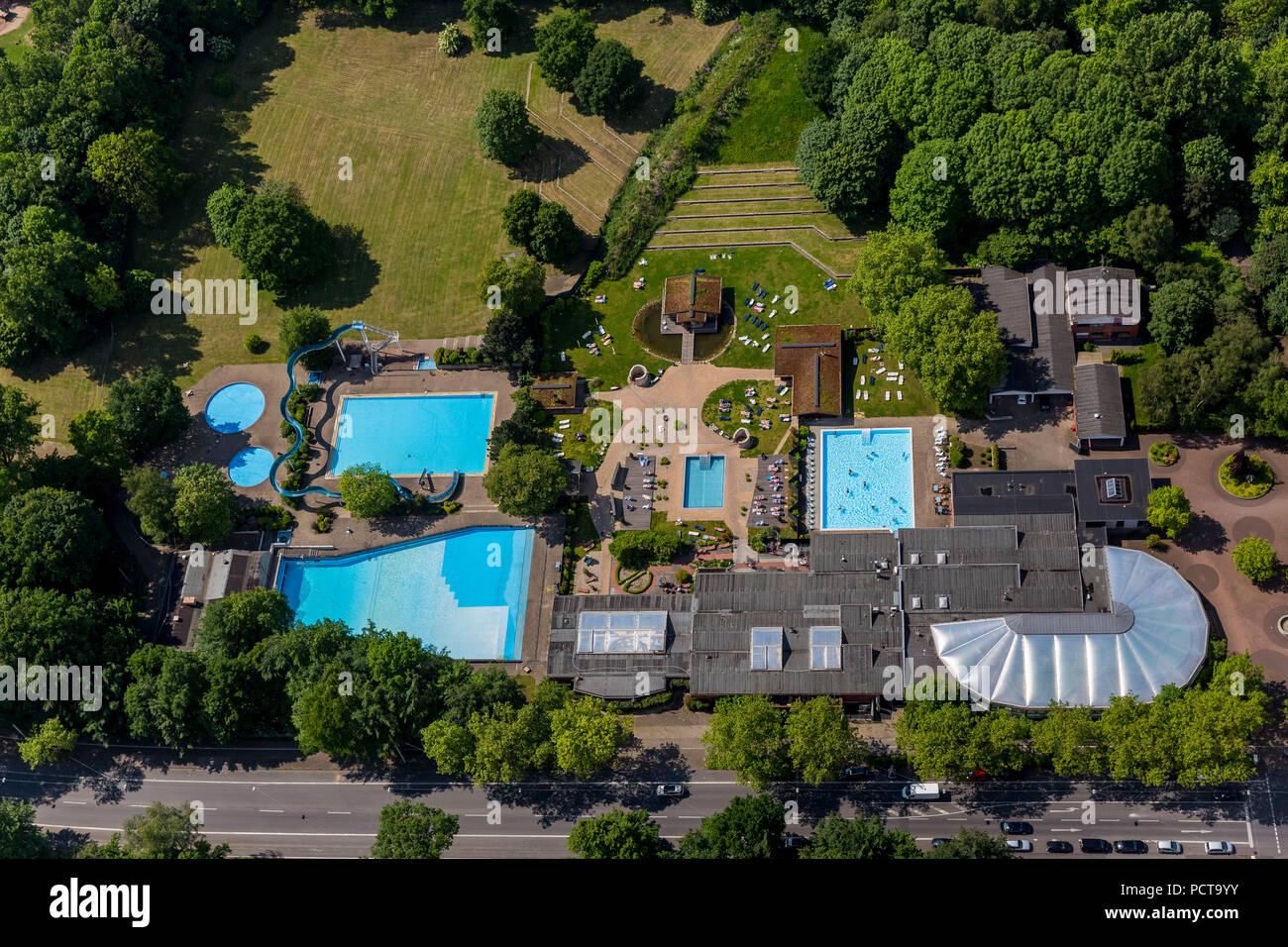 Vonderort Revierpark with earth sauna, Oberhausen, Ruhr area - Stock Image
