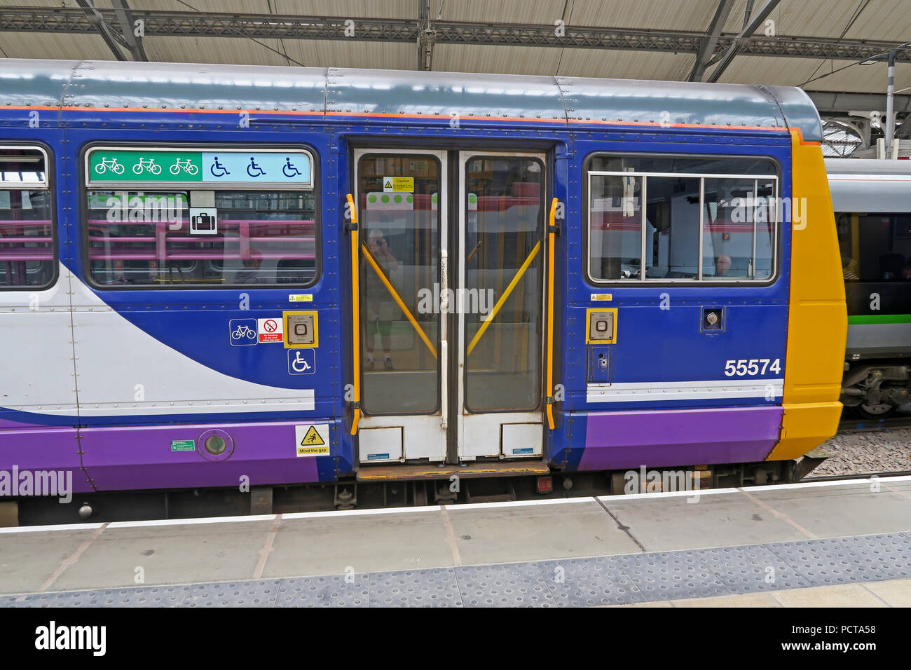 Northern Railway Pacer Train, DMU, Lime Street Railway Station, Liverpool, Merseyside, North West England, UK - Stock Image