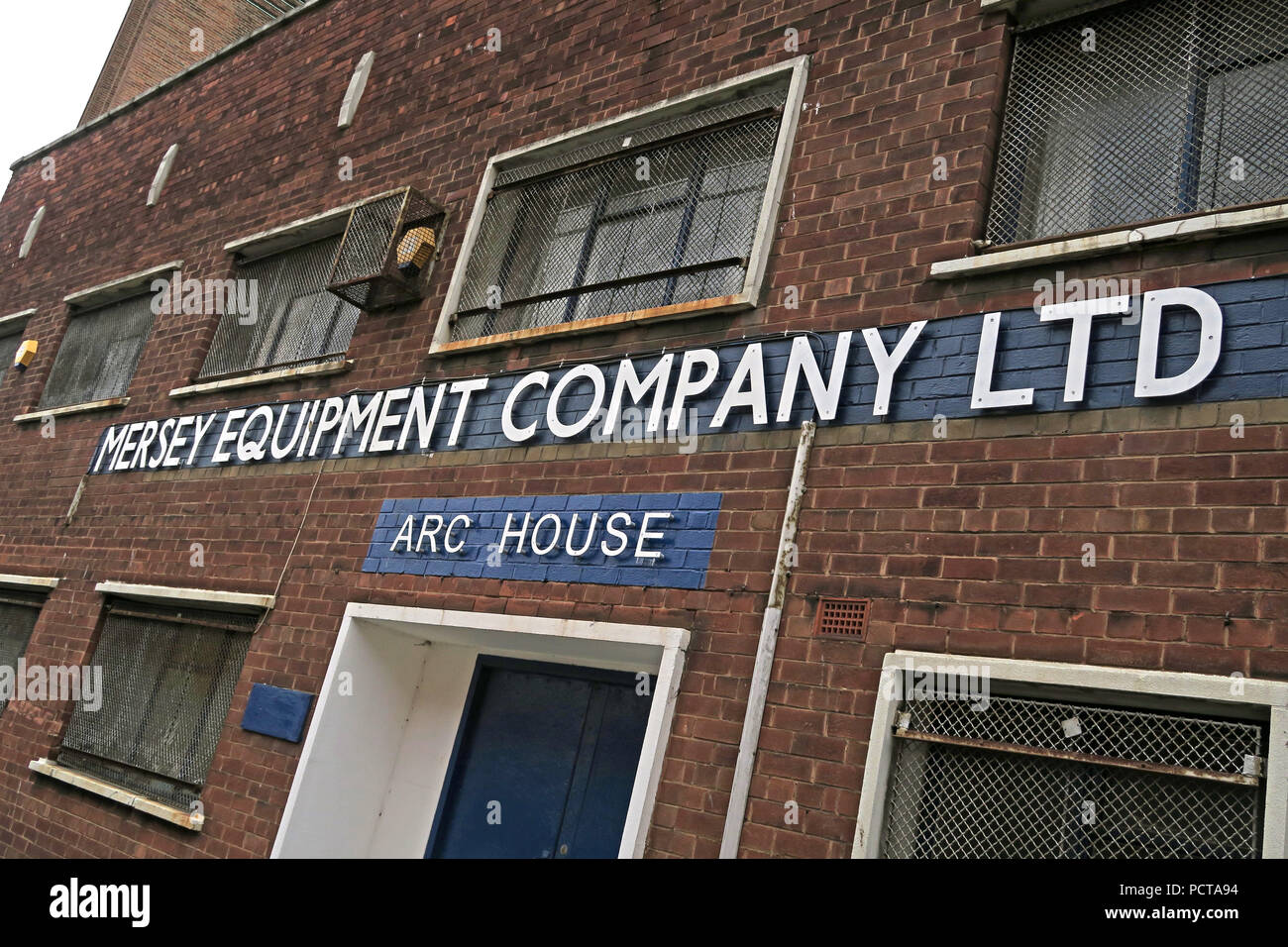 Arc House, Mersey Equipment Company Ltd, Arc House, Birkenhead, Wirral, Merseyside, North West England, UK - Stock Image