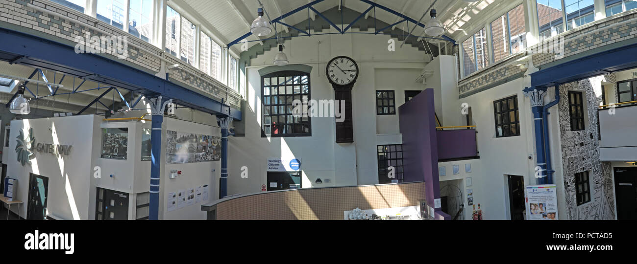 Panorama of The Gateway Community Resource Centre, Charity Resources, 89 Sankey Street, Warrington, Cheshire, North West England, UK - Stock Image