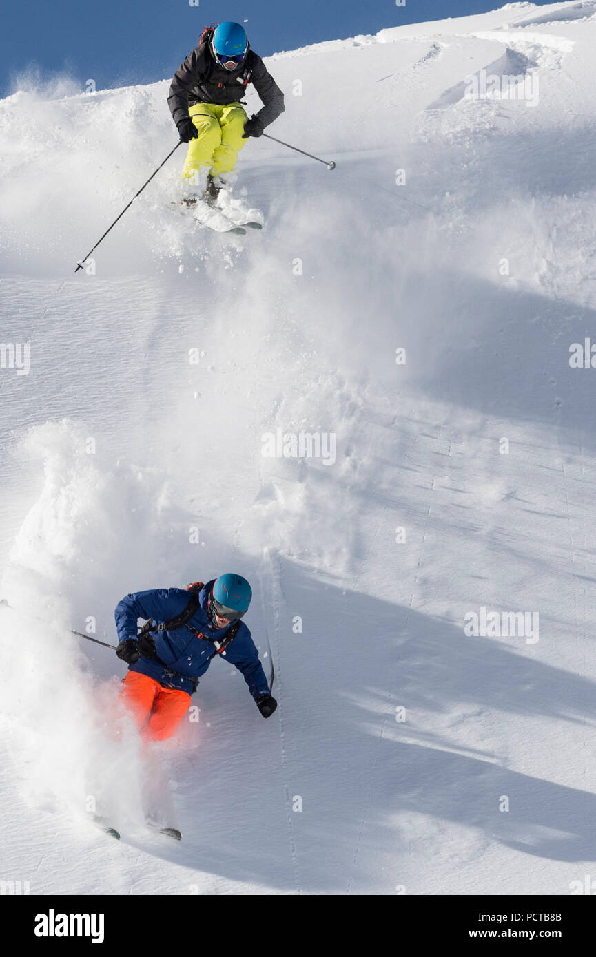 Skiing in Austria - Stock Image
