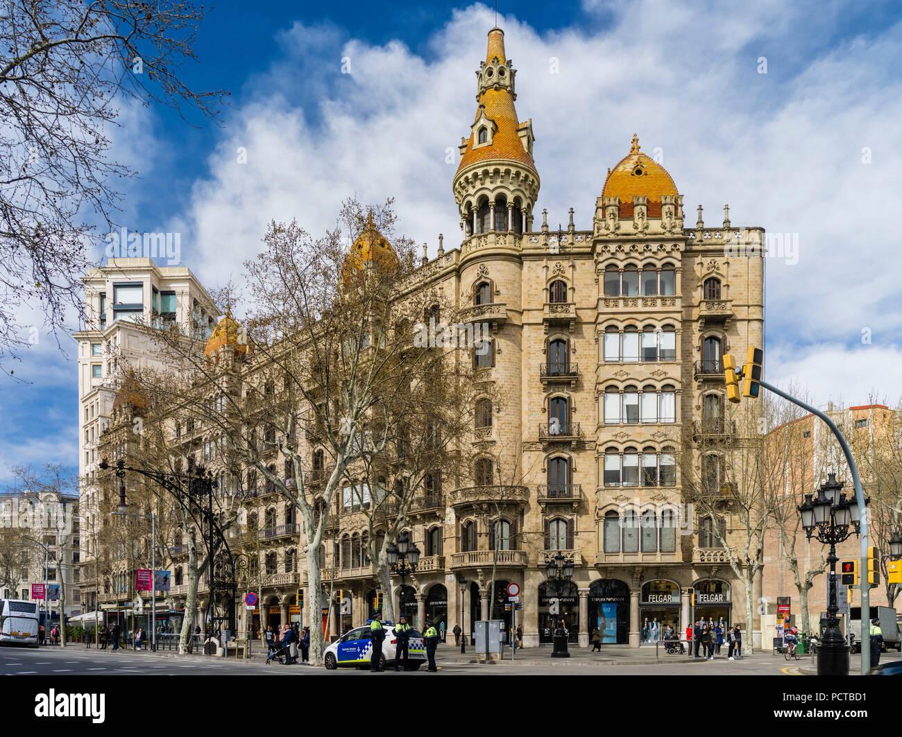 Barcelona city centre - Stock Image