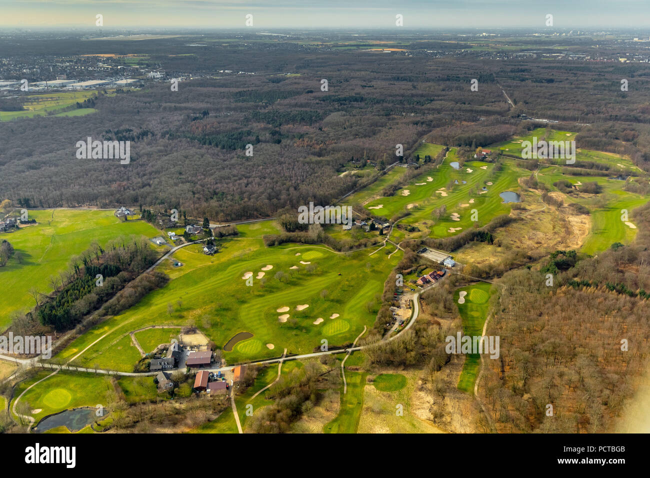 Golf club Mülheim an der Ruhr eV in the south near Selbeck, Mülheim an der Ruhr, Ruhr area, North Rhine-Westphalia, Germany - Stock Image