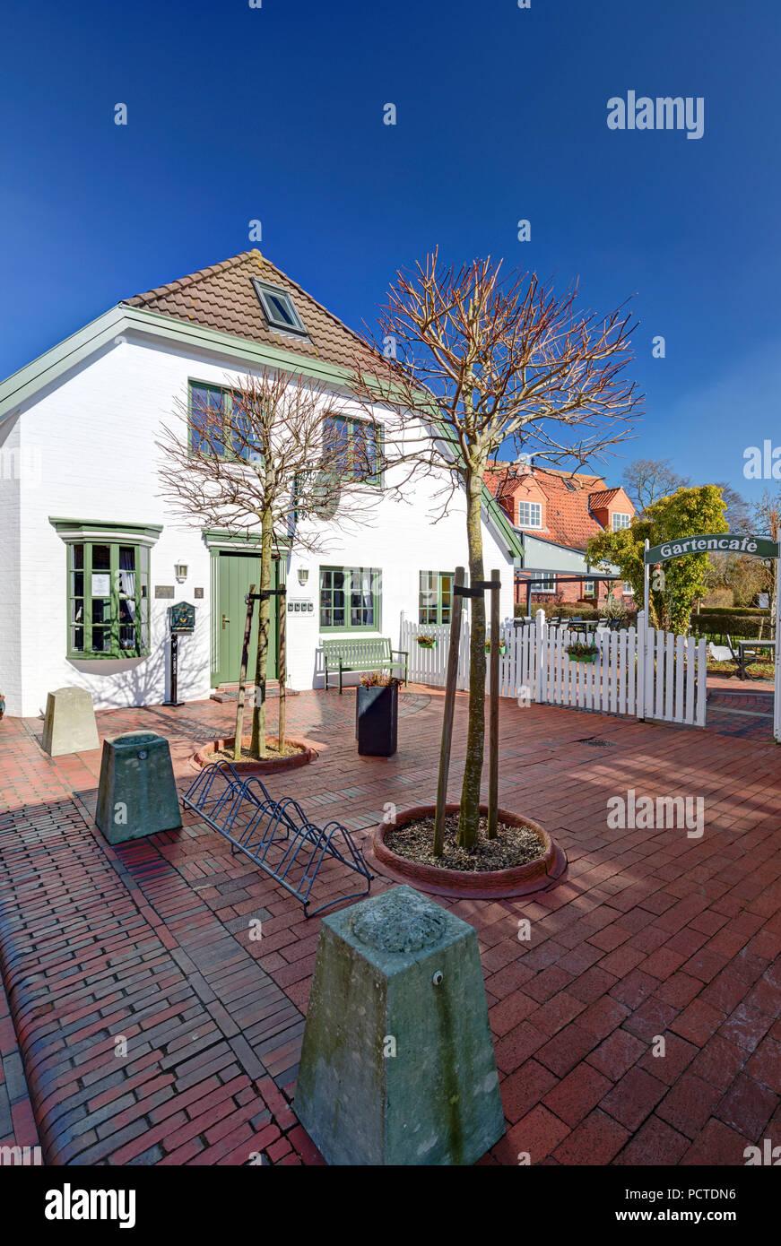 Witthus, Hotel, Restaurant, house facade, Greetsiel, East Frisia, Lower Saxony, Germany, Stock Photo