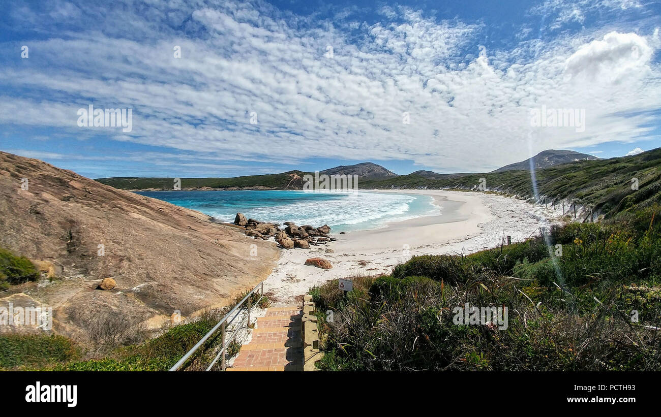Australia, Esperance, Cape Le Grand National Park, white sand beach, turquoise blue sea Stock Photo