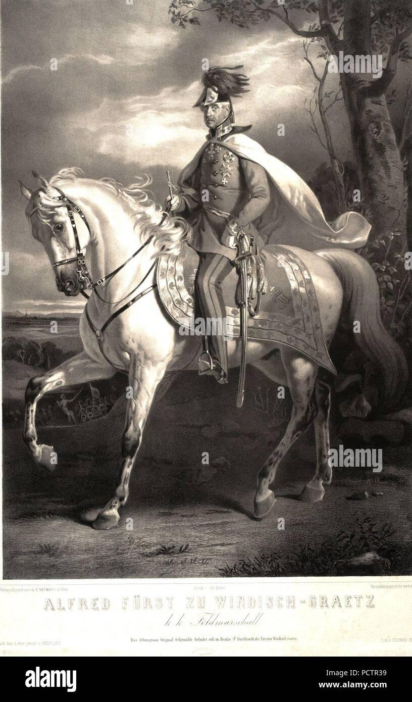 Alfred Fürst zu Windisch-Graetz k.k. Feldmarschall. - Stock Image