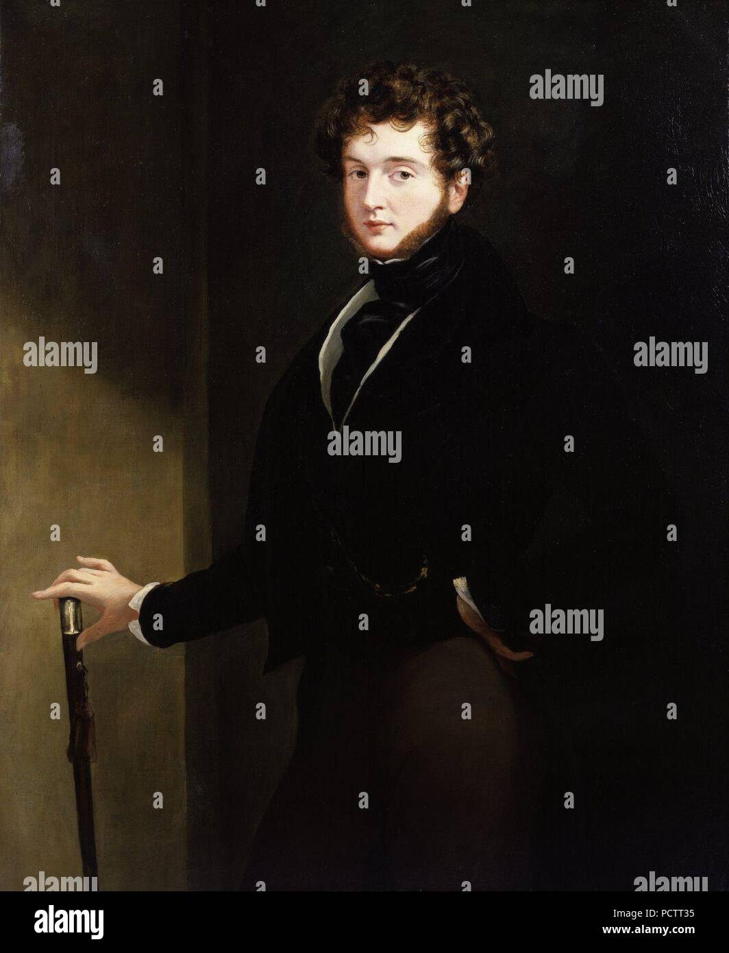 Alfred, Count D'Orsay by Sir George Hayter. - Stock Image