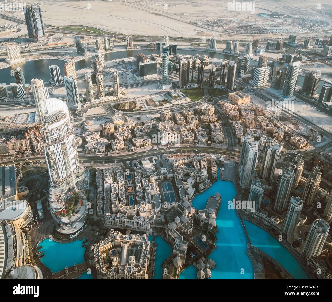 Beautiful view from the top of dubai skyline - united arab emirates - Stock Image