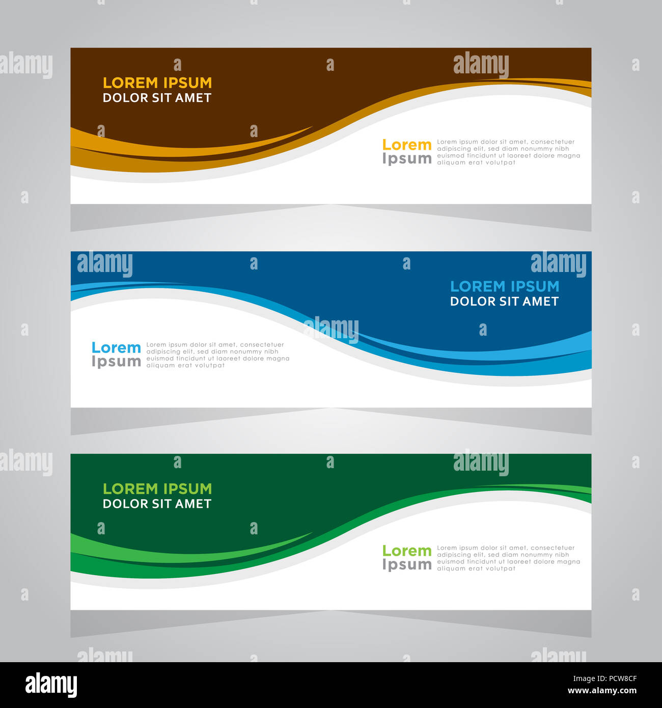 vector abstract design web banner template web design elements