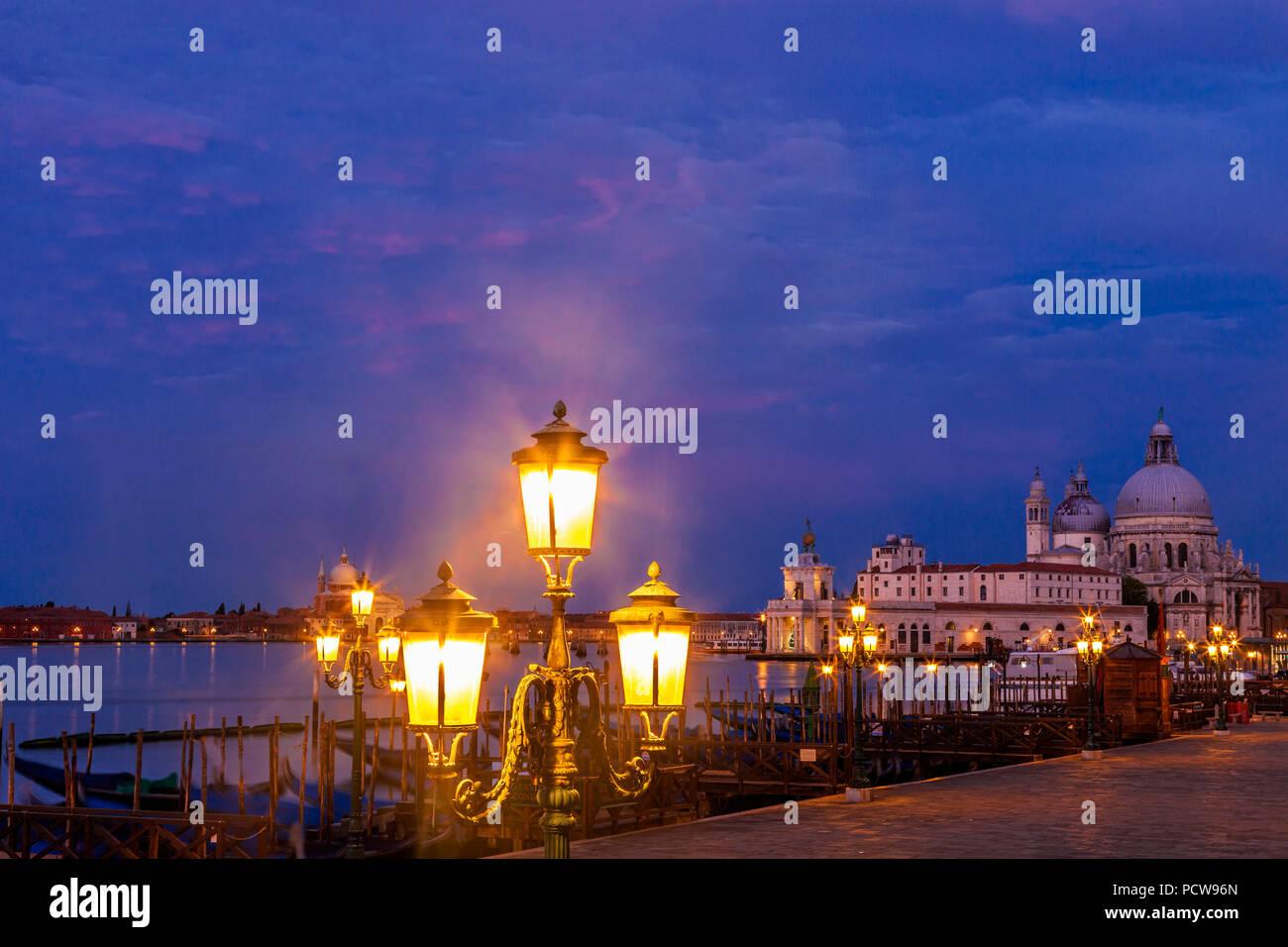 Santa Maria della Salute in Venice, Italy - Stock Image