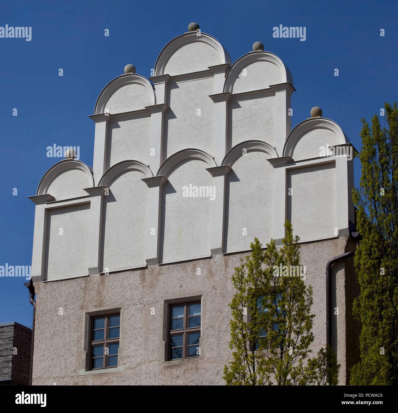Erbaut 1536, Wohn- und Sterbehaus von Philipp Melanchton, Giebel der Gartenseite Stock Photo