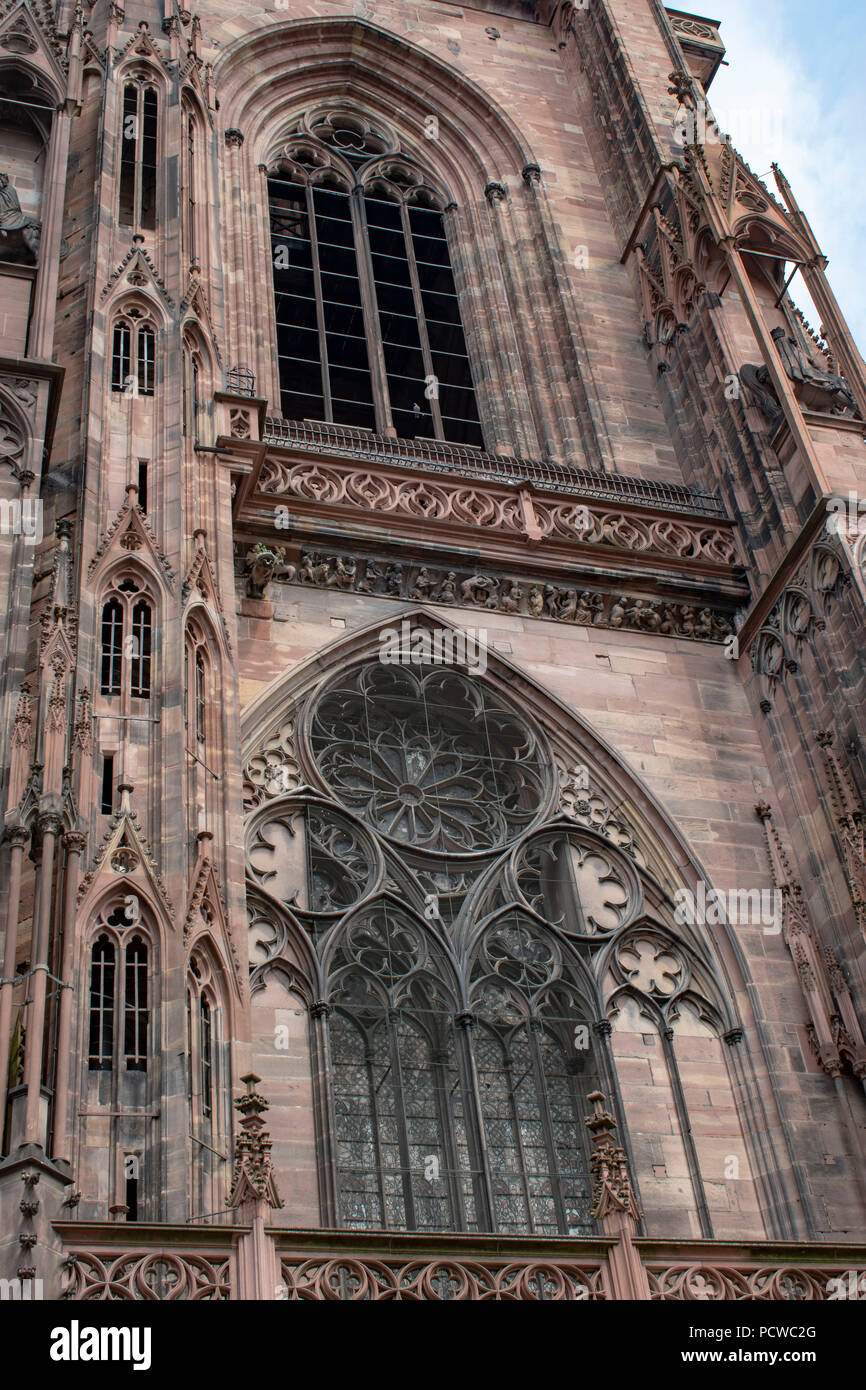 Strasbourg cathedral partial view - Stock Image