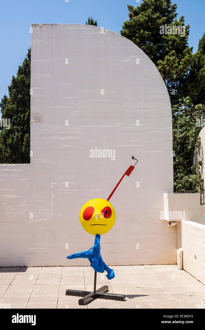 Fundacio Joan Miro Terrace And Sculpture Foundation