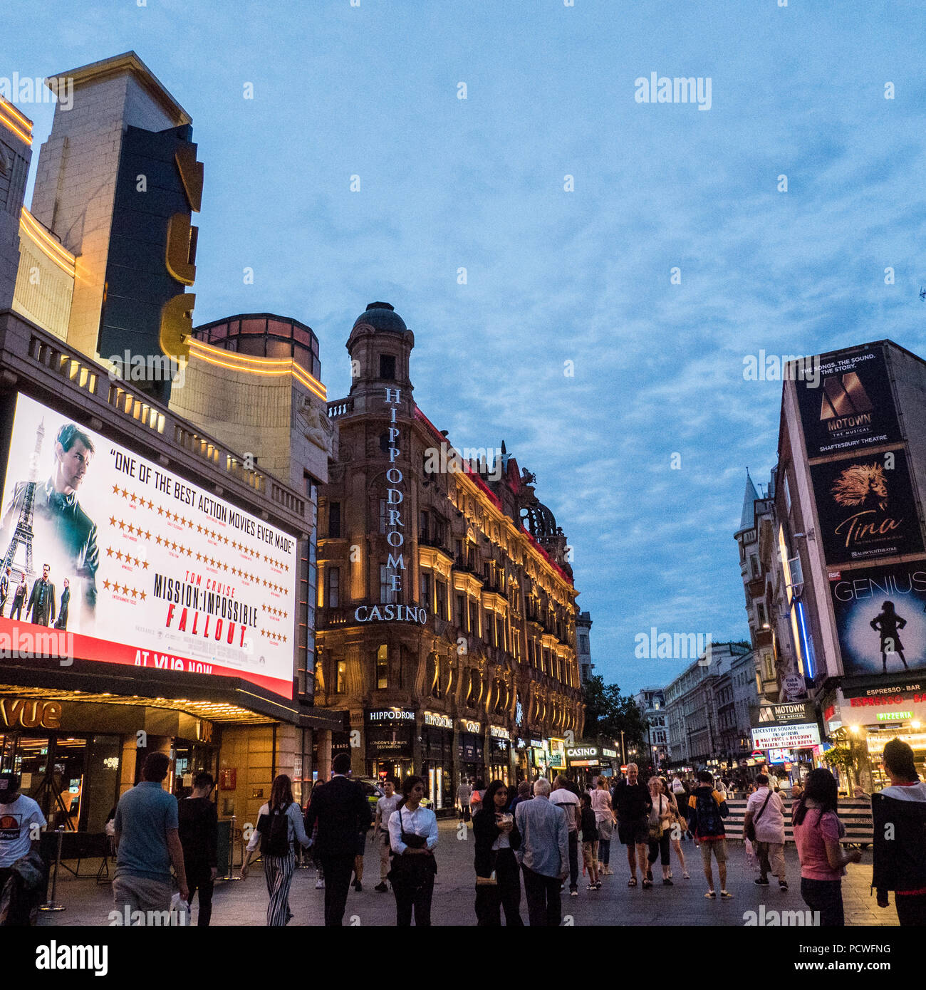 Leicester Square. London - Stock Image