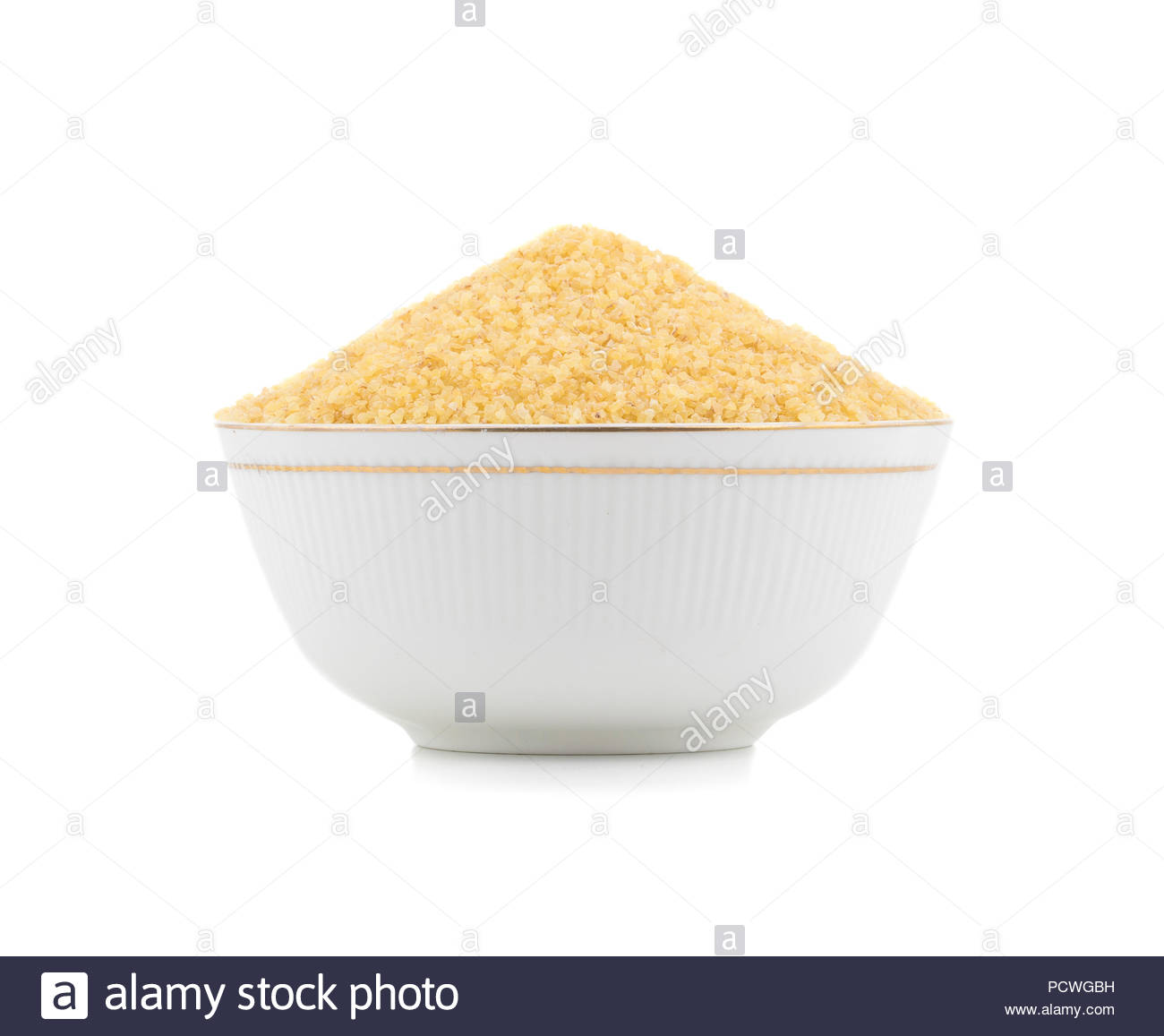 Uncooked cereal food, most often made from groats of durum wheat. Also called burghul - Stock Image