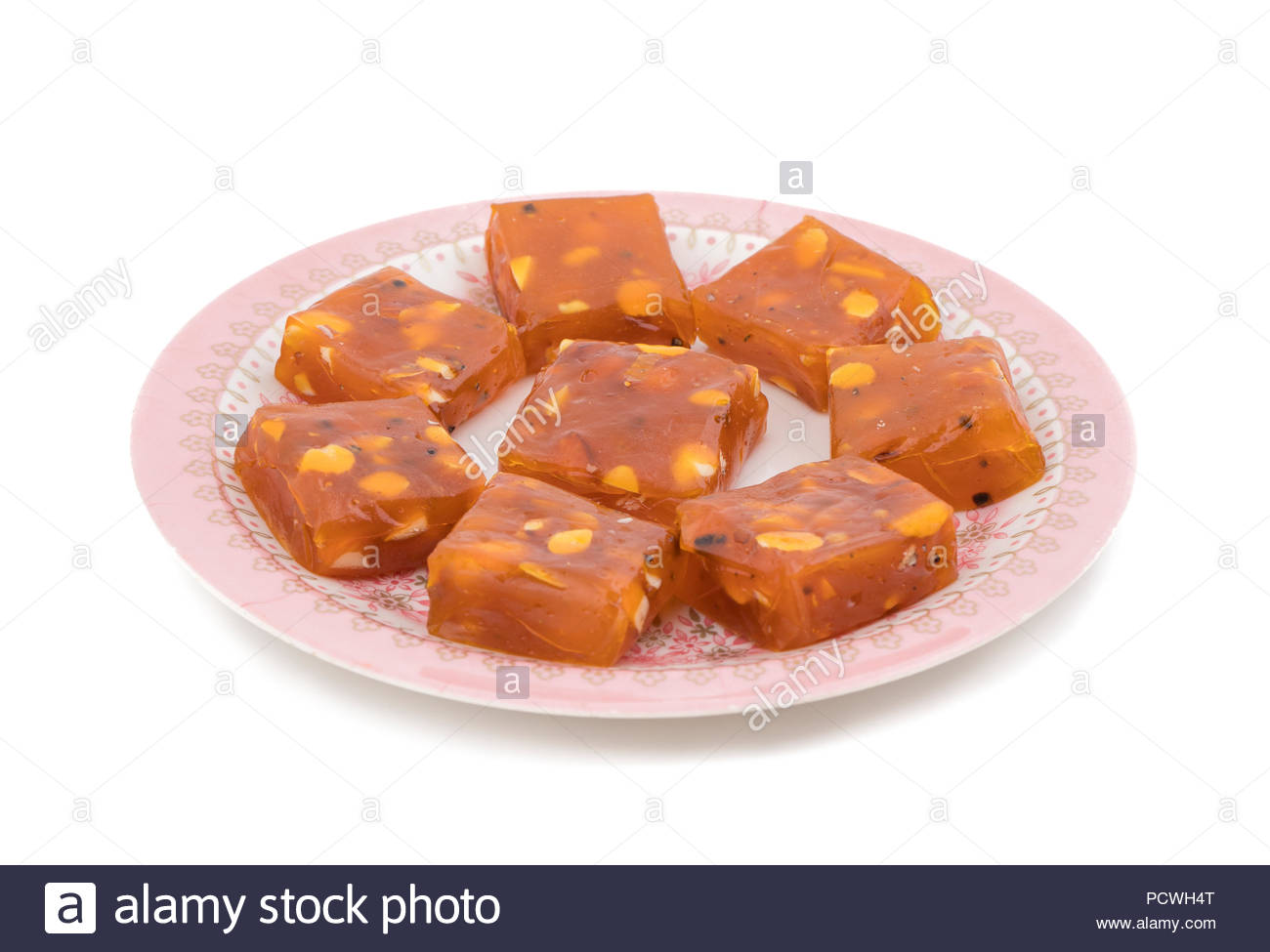 Bombay Karachi Halwa or Turkish Dessert, made from fine flour and Dry Fruits - Stock Image