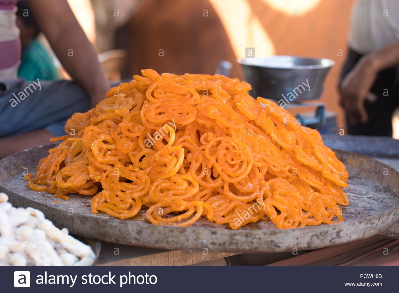 Indian Traditional Sweet food Jalebi - Stock Image