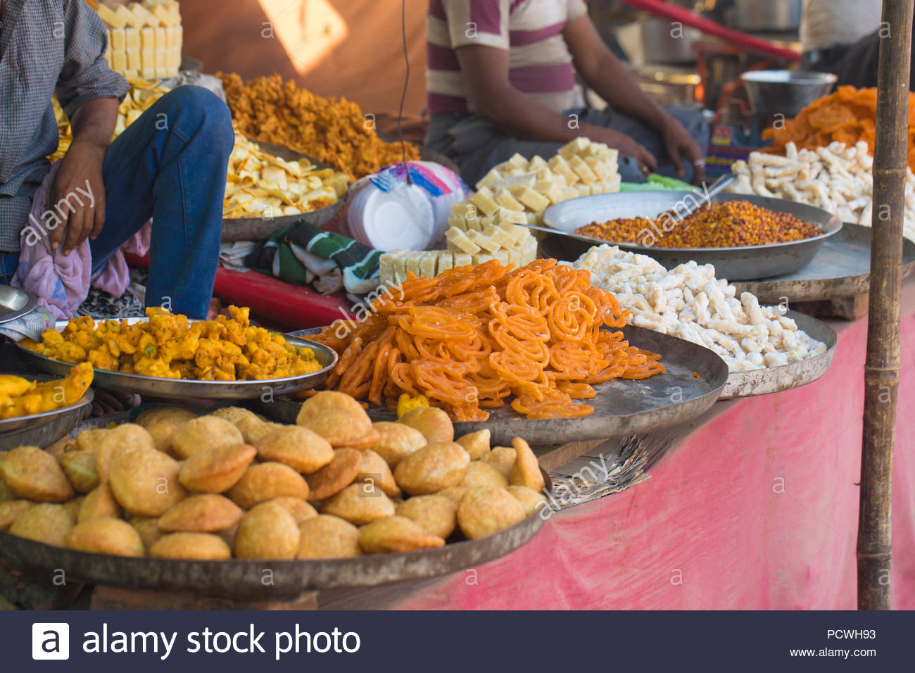 Indian sweet market - Stock Image