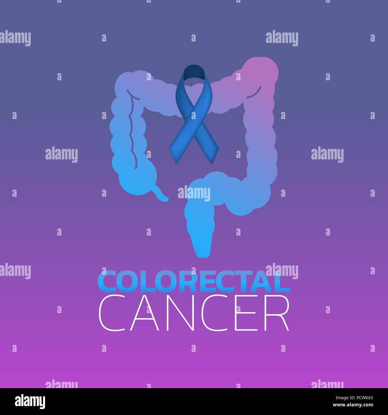Colorectal Cancer Icon Design Vector Illustration Stock Vector Image Art Alamy