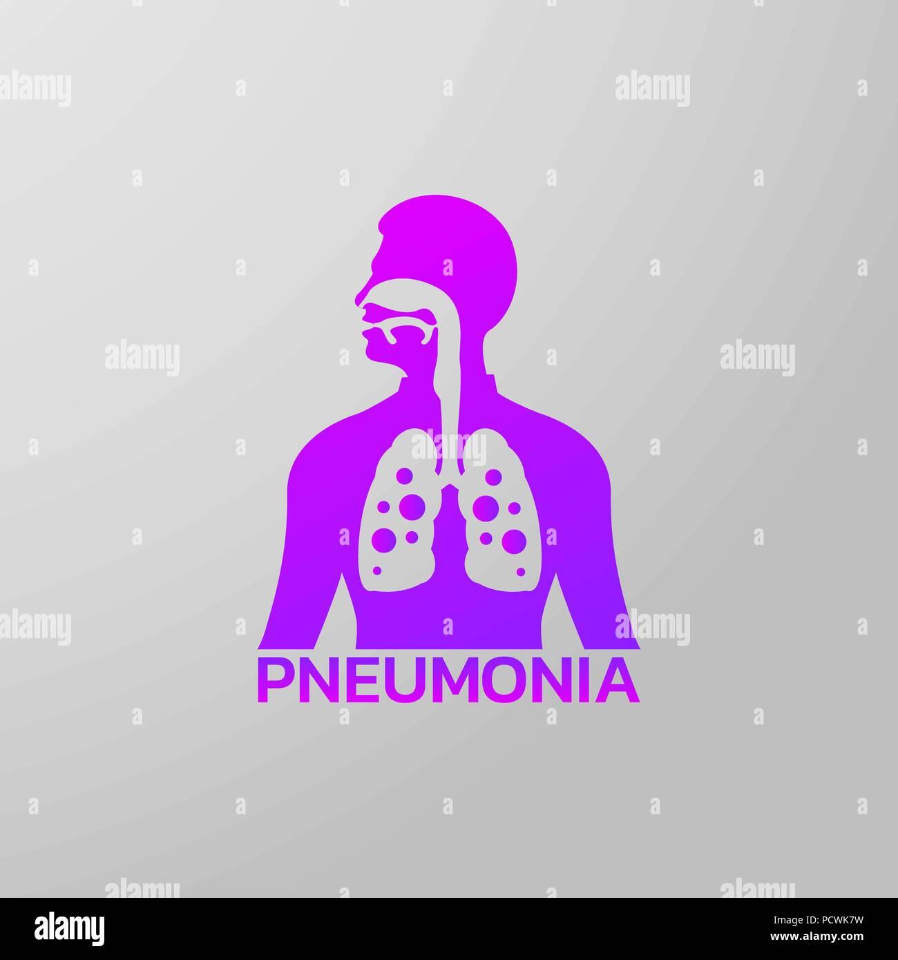 pneumonia icon design, infographic health, medical infographic. Vector illustration - Stock Vector