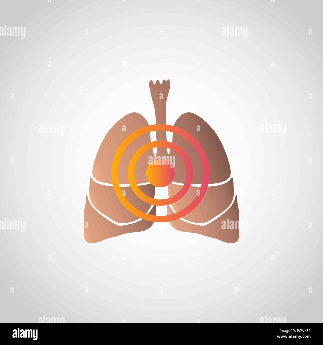 Short of Breath icon design, infographic health. Vector illustration. - Stock Image