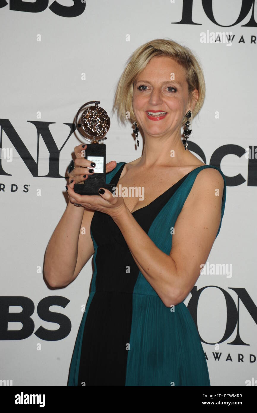 NEW YORK, NY - JUNE 07:  Marianne Elliott attends the American Theatre Wing's 69th Annual Tony Awards at Radio City Music Hall on June 7, 2015 in New York City.   People:  Marianne Elliott - Stock Image