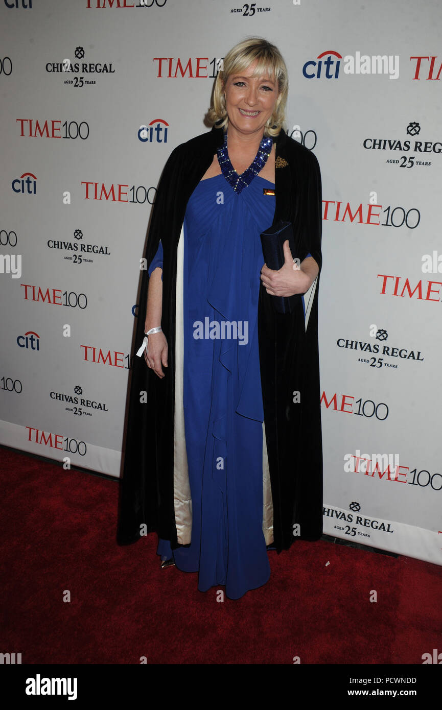 NEW YORK, NY - APRIL 21: Jill Soloway attends the TIME 100 Gala, TIME's 100 Most Influential People In The World at Jazz at Lincoln Center on April 21, 2015 in New York City   People:  Marine Le Pen Stock Photo