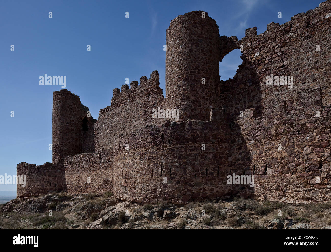 Castillo de Penas Negras Teilanaicht von Außen - Stock Image