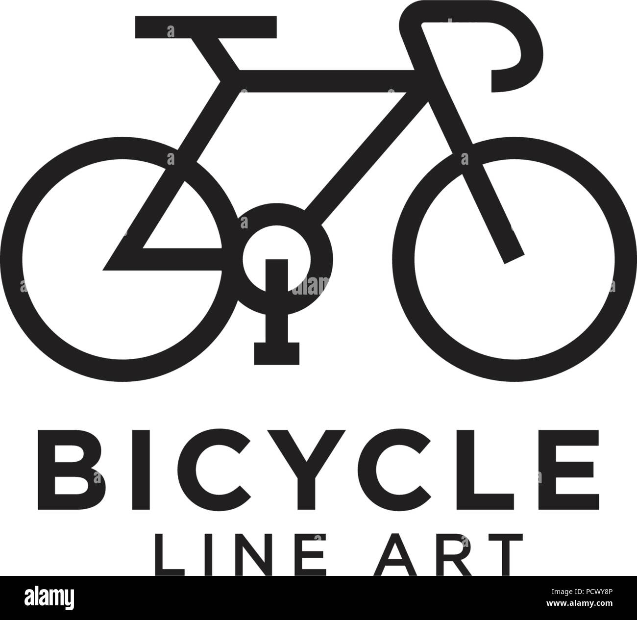 Bike logo design template royalty free vector image.