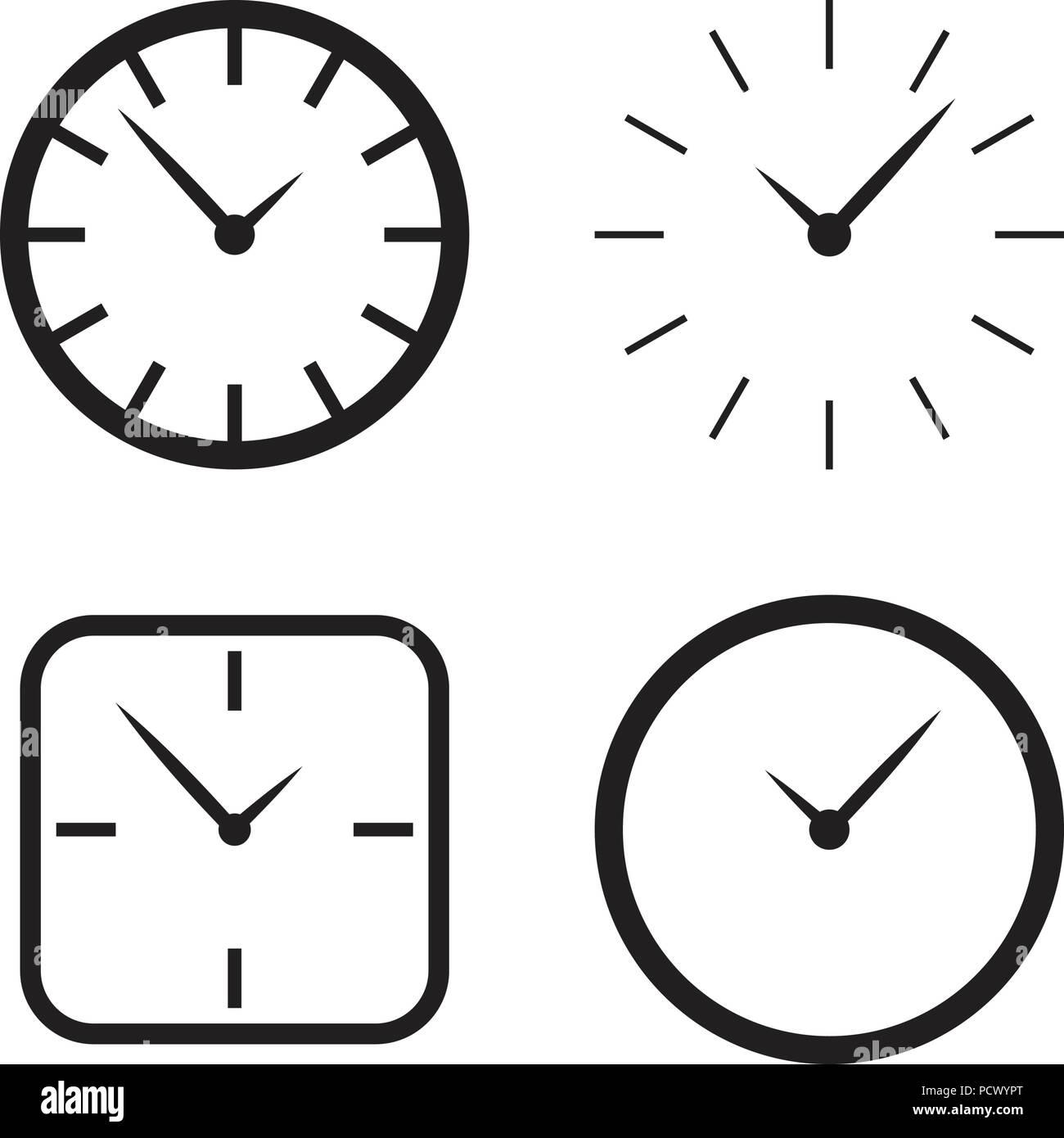 Illustration of wall clock logo design template Stock Vector Art ...