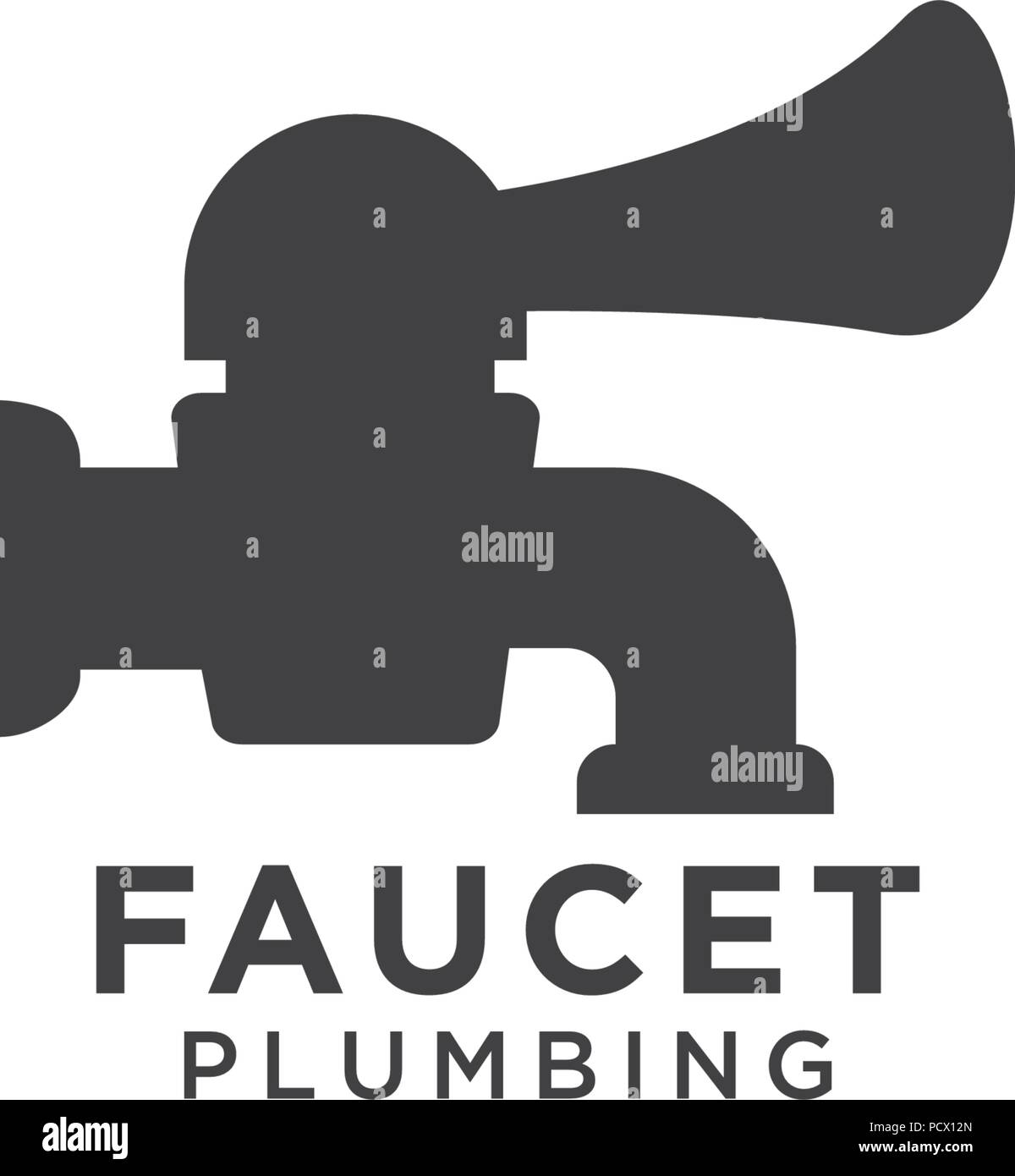 Illustration of faucet plumbing logo design template Stock Vector ...