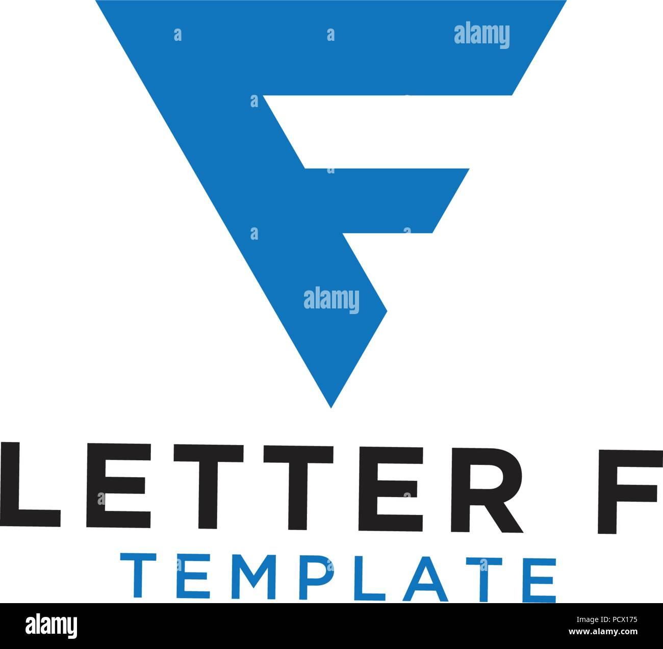 letter f initial logo design template vector stock vector art