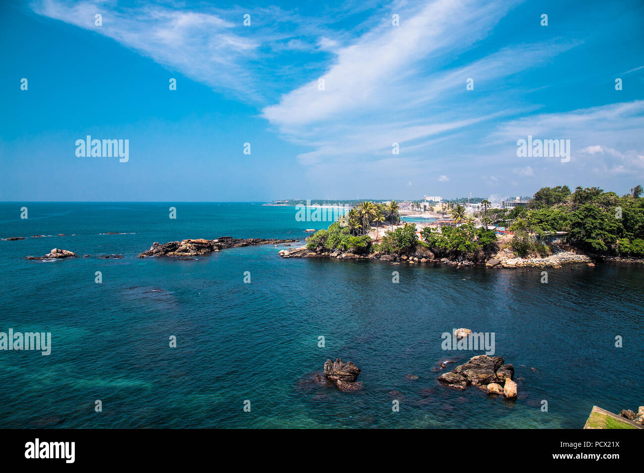 View from Galle city Fort Walls In Sri Lanka. Stock Photo