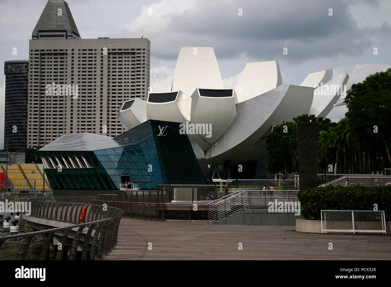 ArtScience Museum, Singapur. - Stock Image