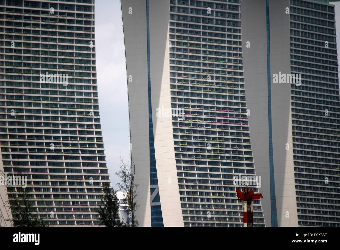 Marina Bay Sands, Singapur. - Stock Image