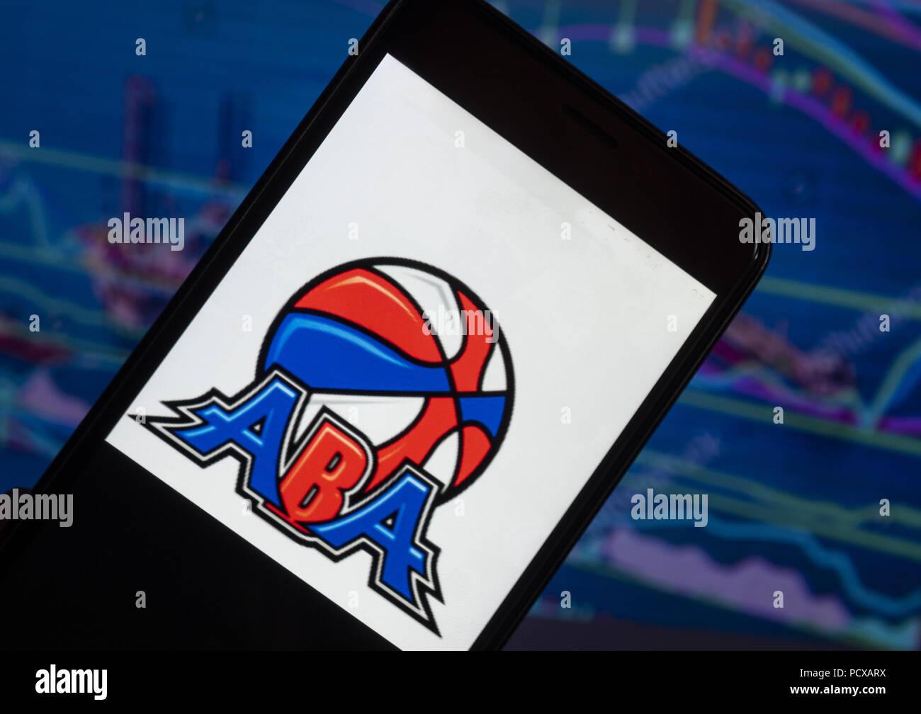 kiev ukraine 4th aug 2018 the american basketball association