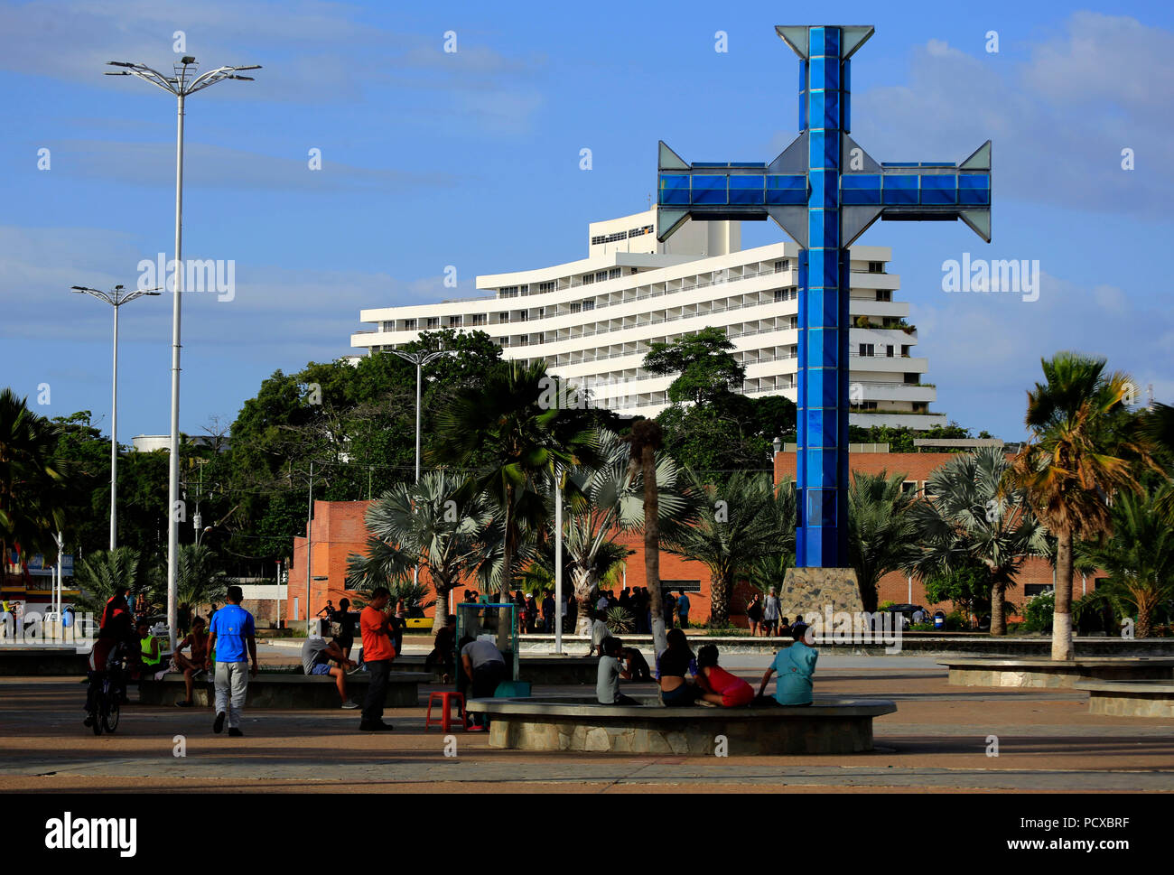 Puerto La Cruz Anzoategui Venezuela 3rd Aug 2018 August 03 2018 Cross Of The Paseo Col