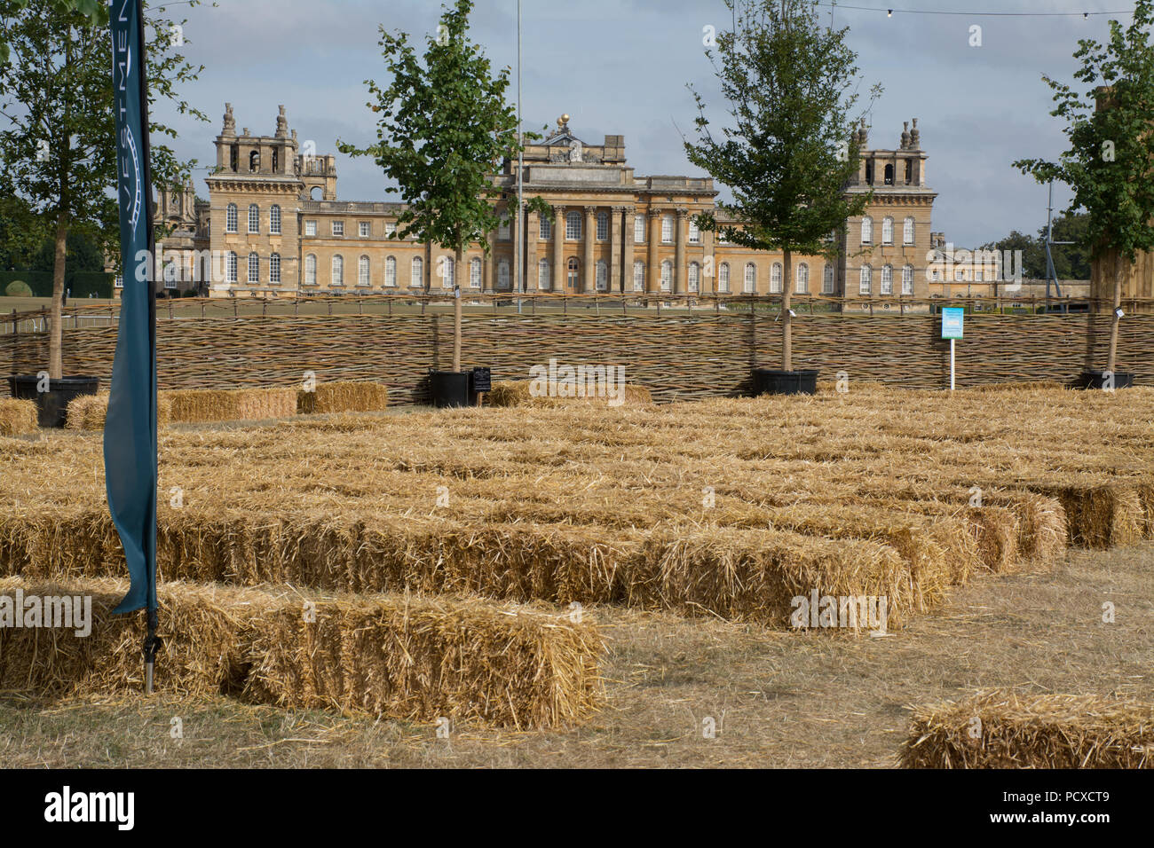 Blenheim Palace, Oxfordshire, UK. 4th August, 2018. Thousands of people went to the Countryfile Live show in the beautiful grounds of Blenheim Palace on a hot, sunny day. There were opportunities to see and meet Countryfile presenters. There were also lots of demonstrations and exhibits such as countryside crafts and livestock to visit. - Stock Image