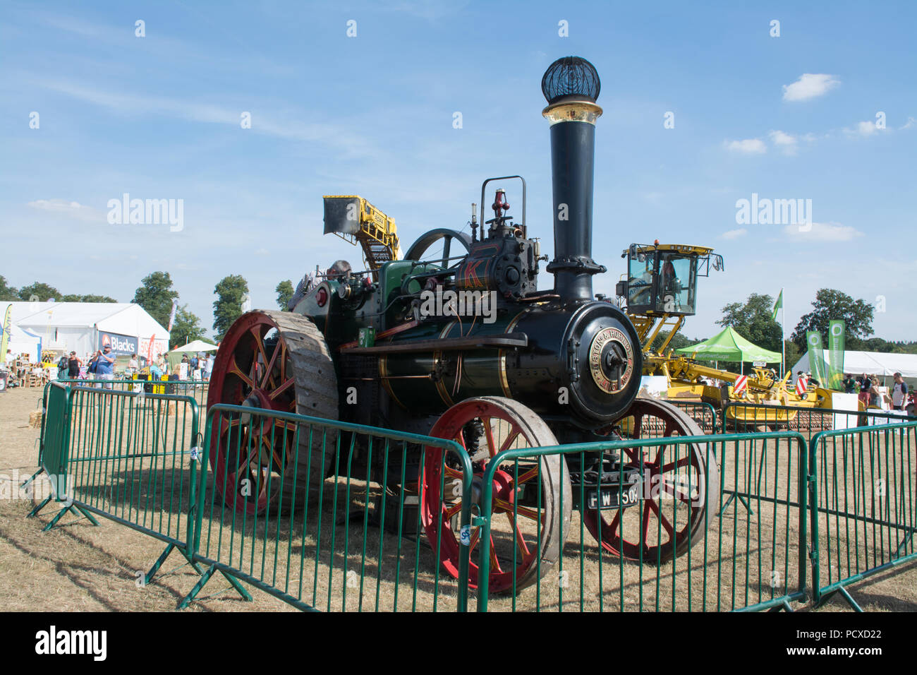Traction engine at the Countryfile Live show 2018 - Stock Image